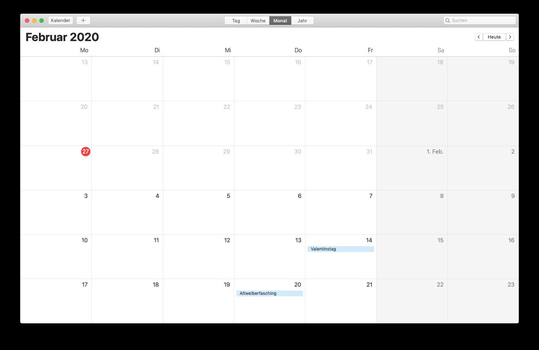 Kalenderwochw
