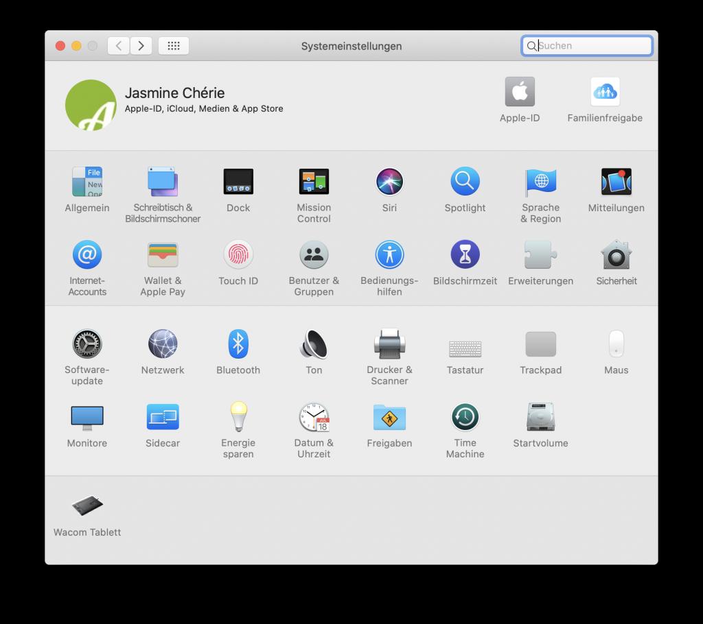 iCloud einrichten Mac Systemeinstellungen