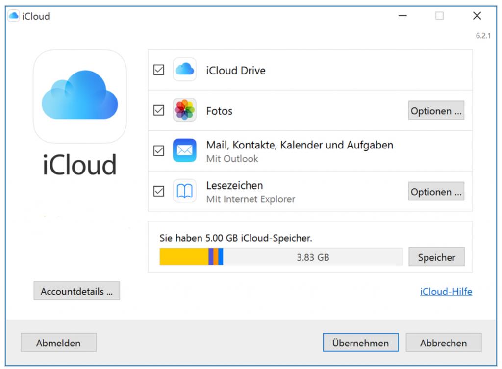 iCloud einrichten für Windows