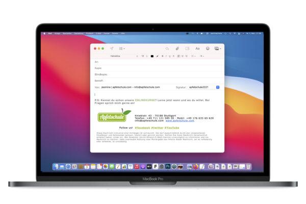 Html Signatur in Apple Mail